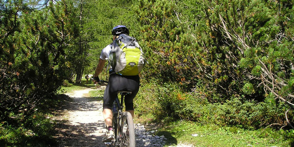 Radfahren zwischen den Moränenhügeln und dem Gardasee